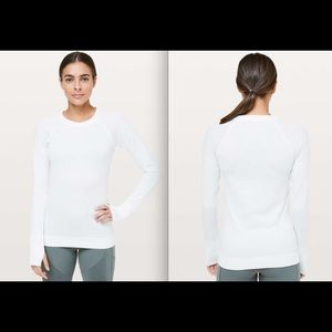 Lululemon Rest Less Pullover in White sz 6 NWT